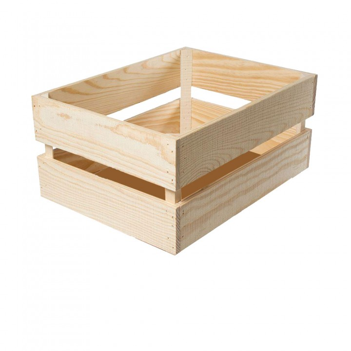 300x300x200 mm Wooden Serving and Display Crate. Mahogany - 1/Case
