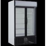 879 Ltr Double Glass Door Upright Cooler - 1/CASE