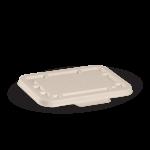 500 & 600 ml Takeaway Base Lid, Natural, Disposable, Eco-Friendly, Sugarcane Pulp — 125/Case
