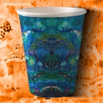 12 Oz. Hot Cup, Double Wall, Art Series, Eco-Frienly, PLA Liner — 120/Case
