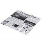 "12""x12"" Newspaper Print Grease Proof Paper - 1000/Case"