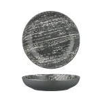 Luzerne Drizzle, Remark Grey With White 10cm Round V-Bowl, 48pcs/pack