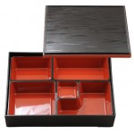 Black and Red Benton Box with Cover 10.25""