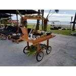 Mahogany market display trolley