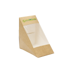 Medium Sandwich Box KRAFT PLA - 100/Case