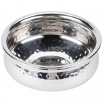 STAINLESS STEEL BOWL, HAMMERED, MOROCCAN, 27 OZ.