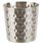 """Stainless Steel Fry Cup, Satin Finish, Hammered, 3.25"""" Dia. X 3.5"""" H"""