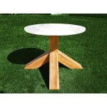 Table teak base for stone top. Elements collection.