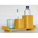 Tray for bottle holder - teak in natural unfinish