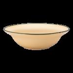 Luzerne Tin Tin, New Bone Yellow 16cm Deep Round Plate, 24 pcs/pack