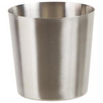 "Stainless Steel Fry Cup, Satin Finish, Solid, 3.25"" Dia. X 3.5"" H"