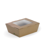 Medium Lunch Box with Window, 152 x 120 x 64 mm, Eco-Friendly, Paperboard - 100/Case