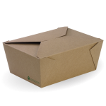 Extra Large Lunch Box, 197 x 140 x 90 mm, Eco-Friendly, Paperboard - 100/Case
