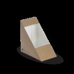 Sandwich Triangle Box, 123 x 72 x 79 mm, Eco-Friendly, Paperboard - 100/Case