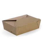 Large Lunch Box, 197 x 140 x 64 mm, Eco-Friendly, Paperboard - 100/Case