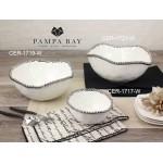 14 oz. Porcelain Bowl with Titanium Coating and Beaded Rim  - 1/Case