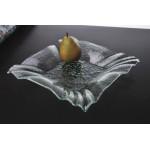 12'' Glass Square Bowl w/ Folded Corners, Jade, Glass  - 1/Case
