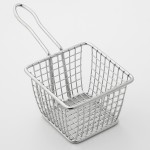 FRY BASKET, STAINLESS STEEL, SQUARE 4 L X 4 W X 3 H