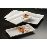 Melamine Platter, Rectangular, Medium 18 Lx8-1/4 Wx2 H - 12/Case