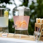 11 Ltr Beverage Dispenser with Ice Core and Fruit Infuser, Acrylic - 1/Case