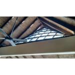 Custom made hurricane proof windows. Mahogany, triplex glass 13,8 mm