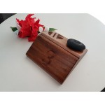 140x140x45 mm Menu Holder. Outlet logo & table number engraving included. Raintree. Oil finish.