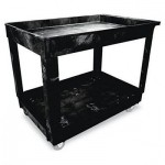 Black 2-Shelf 34 x 16