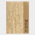 MENU HOLDER, CORK DESIGNER 10 W X 13 H