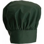 "13"" Chef Hat, Velcro Closure, Green - 24/Case"