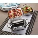 Stainless Steel Mini Roasting Pan, 17 Oz. 5-3/4 Lx3-3/4 Wx1-3/4 H - 36/Case