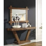 Hallway joinery mirror and console. Raintree.