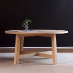 Cross base oblong dining table. Mahogany 800x1200x760