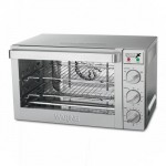 Half-Size Convection Oven - Stainless Steel Baking Sheet/ Drip Tray and 3 Nickel-Plated Baking Racks
