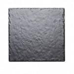 12Wx12Dx.25H Square Faux Slate Serving Platter