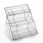 Stand, Chrome, Three-Tier Arch, Large 21 Lx15-1/4 Wx12-3/4 H - 1/Case
