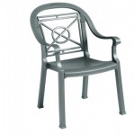 Dining Armchair, Victoria Classic Charcoal - 4/Case