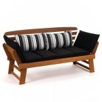 Garden leasure sofa-longer. Mahogany.