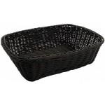 "11.5"" x 8.5"" x 3.5"" Poly Woven Baskets, Rectangular, Black - 12/Case"
