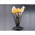 CONICAL BASKET, WROUGHT IRON, FLAT COIL, SLANTED 4-1/2 DIA. X 7-1/2 H