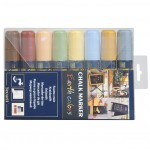 BIG TIP MARKERS, EARTH TONE, 8PK, ASSORTED BURNT SIENNA, BUTTERCUP, FORGET ME NOT, GOLDEN YARROW, HONEYSUCKLE, JUBILEE CHERRY, MOSS GREEN, SLATE GRAY