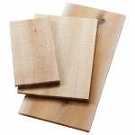 11.2 L Cedar Wood Plank, Cedar Wood, Brown - 12/Case