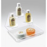 Cal-Mil 161-12 3 Step Acrylic Amenity Tray