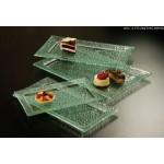 Rimmed Bubble Glass Platters