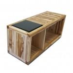 Teak bench for lobby with vesi seat 1200x440x510 mm