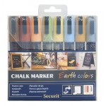 SMALL TIP MARKERS, EARTH TONE, 8PK, ASSORTED BURNT SIENNA, BUTTERCUP, FORGET ME NOT, GOLDEN YARROW, HONEYSUCKLE, JUBILEE CHERRY, MOSS GREEN, SLATE GRAY