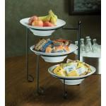 Stand, Round, Melamine Bowls Included 17-3/8 Hx9-3/4 W - 1/Case