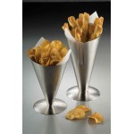 """5""""x5"""" Conical Snack Holder, S/S, Silver - 12/Case"""