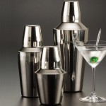 COCKTAIL SHAKER, STAINLESS STEEL, THREE-PIECE, 8 OZ.