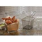 FRY BASKET, STAINLESS STEEL, RECTANGULAR 4 L X 3 W X 3 H