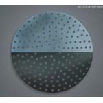 "15"" Perforated Pizza Disk - Hard Coat Anodized Aluminum - 24/Case"